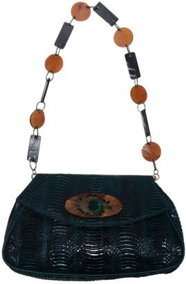 Reclaimed Vintage Green Python Handbags