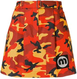 Miu Miu camouflage mini skirt