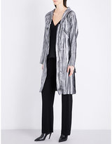 Sharon Wauchob Hooded silk and metallic-blend coat