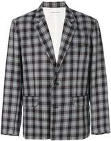 Gosha Rubchinskiy plaid fitted blazer