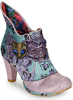 Irregular Choice MIAOW women's Low Ankle Boots in Blue