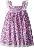 Us Angels Cotton Poplin & Eyelet Empire Smock Bodice Dress (Toddler/Little Kids)