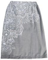 Xhilaration Placed Floral Bath Wrap Gray & White