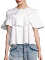 Jonathan Simkhai Ruffle Cotton Top