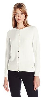 Calvin Klein Women's Solid Button-Front Cardigan