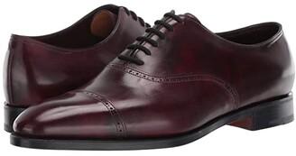 John Lobb Trent Museum Calf Oxford w/ Single Leather Sole (Plum) Men's Shoes