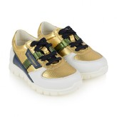 Dolce & Gabbana Dolce & GabbanaBoys Gold & White Leather Trainers