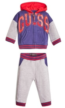 GUESS Boys Active Long Sleeve Zip Hoodie & Joggers Set
