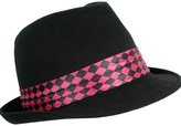 Neon Checker Trim Fedora