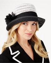 Nine West Packable Floral Cloche Hat