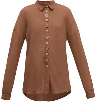 ALBUS LUMEN Petram Traveller Oversized Cotton-blend Shirt - Womens - Brown