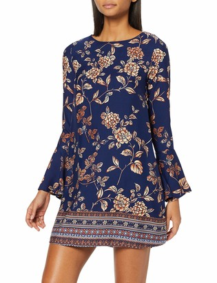 Yumi Women's Border Print Tunic Dress