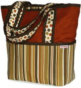 Hoohobbers Tote Diaper Bag, Hot Tamale