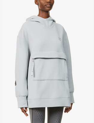 adidas by Stella McCartney Logo-print organic cotton and recycled-polyester blend hoody