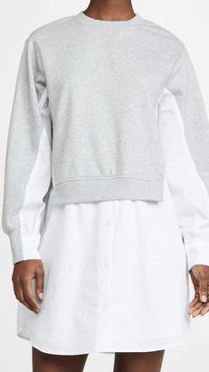 ENGLISH FACTORY Sweatshirt With Poplin Combo