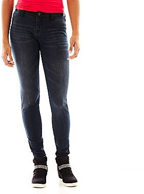 JCPenney Freestyle Faux-Leather Skinny Jeans