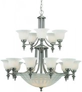 Dolan Designs 668 Traditional / Classic 15+5 Light Up / Down Lighting Chandelier from the Richland, Satin Nickel