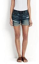modern Women's Cuffed Jean Shorts-Jet Black
