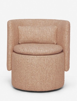 Lulu & Georgia Hazel Swivel Chair, Burnt Orange Boucle