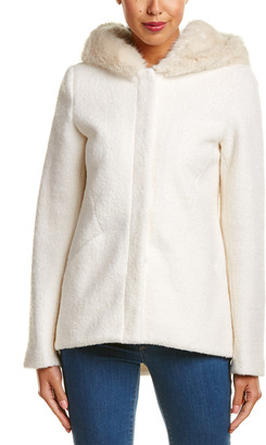Laundry by Shelli Segal Wool-Blend Short Coat