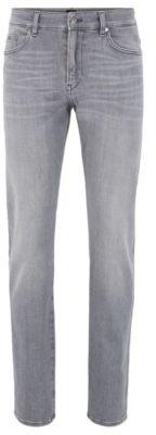 BOSS Slim-fit jeans in super-soft grey stretch denim