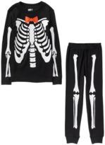 Crazy 8 Skeleton 2-Piece Pajama Set