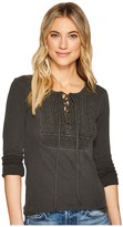 Lucky Brand Lace-Up Bib Thermal Top Women's Clothing