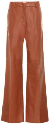 Tod's High-rise wide-leg leather pants