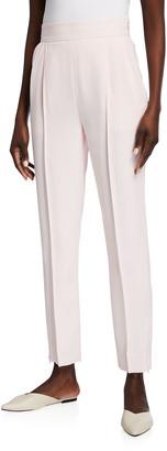 ADEAM Dahlia Zip-Cuff Cropped Crepe Pants