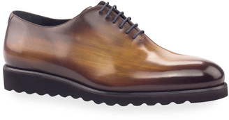 Ike Behar Men's Torino Whole-Cut Patina Leather Oxford Shoes