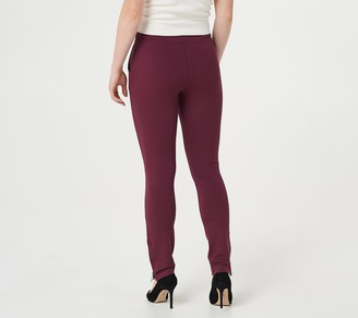 Belle By Kim Gravel Petite Ponte Slim Pant with Side Zippers
