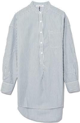 Alex Mill Popover Tunic Bi Stripes in Green/White
