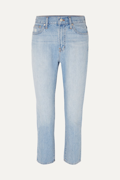 Madewell - The Perfect Vintage High-rise Straight-leg Jeans - Light denim