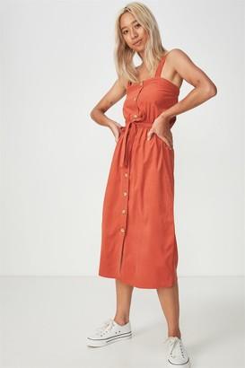 Cotton On Woven Lyric Button Through Midi Dress
