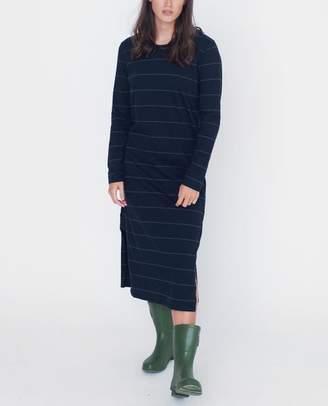 Beaumont Organic Navy And Dark Grey Judy Organic Cotton Dress - Navy And Dark Grey / Small - Blue/Grey