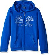 GUESS Big Girls' Stretch Cotton Fleece Logo Hoodie