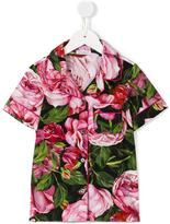 Dolce & Gabbana rose print shirt - kids - Cotton - 2 yrs
