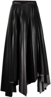 Nanushka Pleated Handkerchief-Hem Skirt