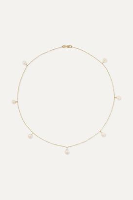 Mateo 14-karat Gold Pearl Choker