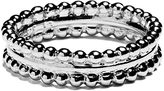 Agnes de Verneuil Silver Ring Two Pearls Bands