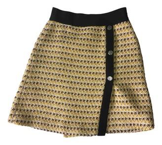 Maje Fall Winter 2019 Yellow Tweed Skirts