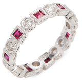 Rina Limor Fine Jewelry Diamond & Ruby Eternity Ring