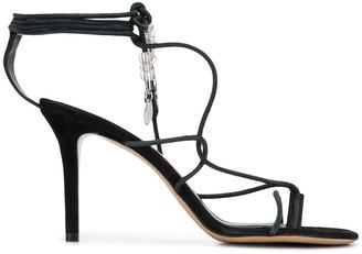 Isabel Marant Askee wrap-ankle sandals