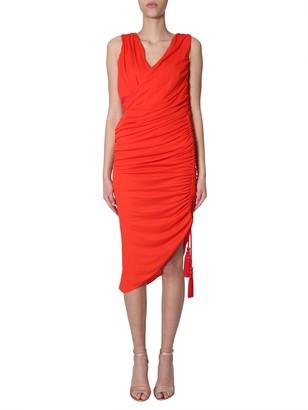 Lanvin Draped Midi Dress