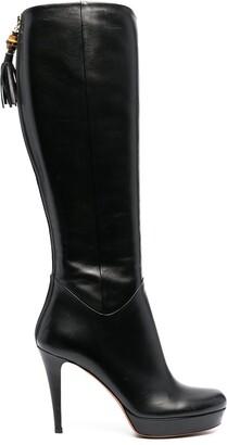 Gucci Polished-Finish High-Heel Boots