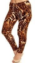 Leggings4U Women's New Trending Giraffe Spot Pattern Printed Plus Size Leggings