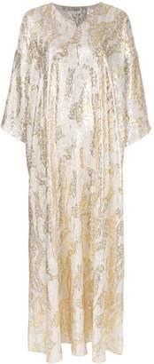 LAYEUR long jacquard dress