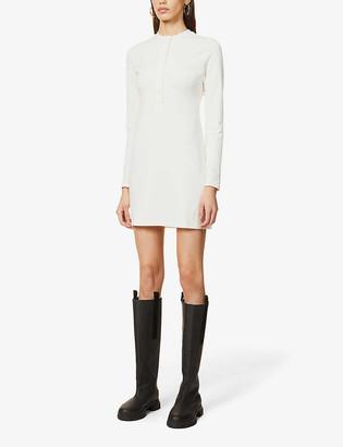Reformation Tam button-up organic cotton-blend mini dress