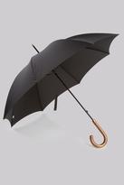 Fulton Tall Elm Wood Handle 'Commissioner' Umbrella Black