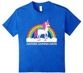 Rainbow Kids Unicorn Haters Gonna Hate T-Shirt 6